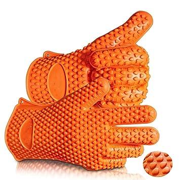 Barbacoa guantes y garras Set – silicona resistente al calor barbacoa accesorios y herramientas para hogar