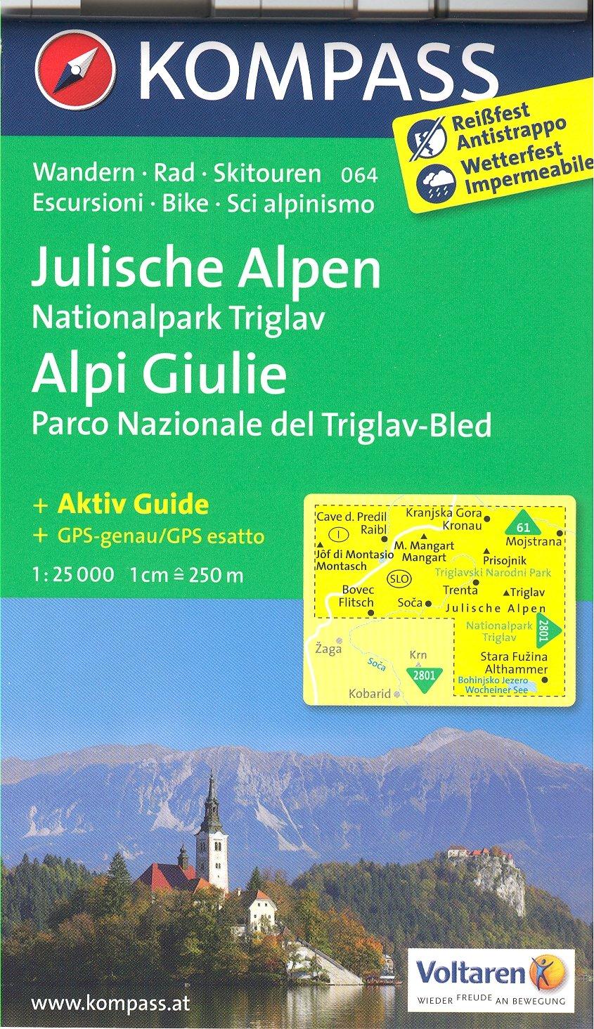 Portorose Slovenia Cartina Geografica.Amazon It Alpi Giulie Np Triglav Bled Slovenia 1 25 000 Carta Escursionistica Topografica 064 Kompass Kompassmaps Libri