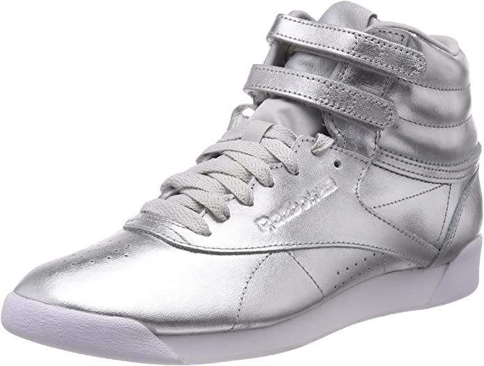 Reebok Freestyle Hi Sneakers High Top Damen Schuhe Silber