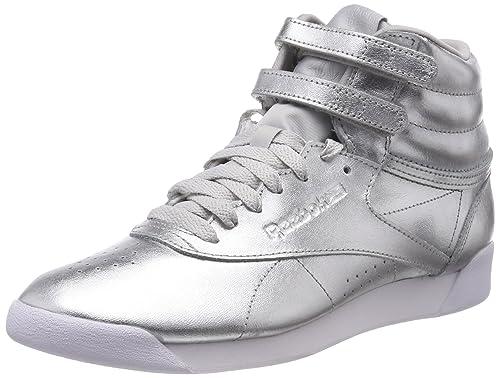 Reebok Freestyle Hi Metallic, Scarpe da Fitness Donna, Rosa (Rose Gold/White/Silver Peony 000), 38 EU