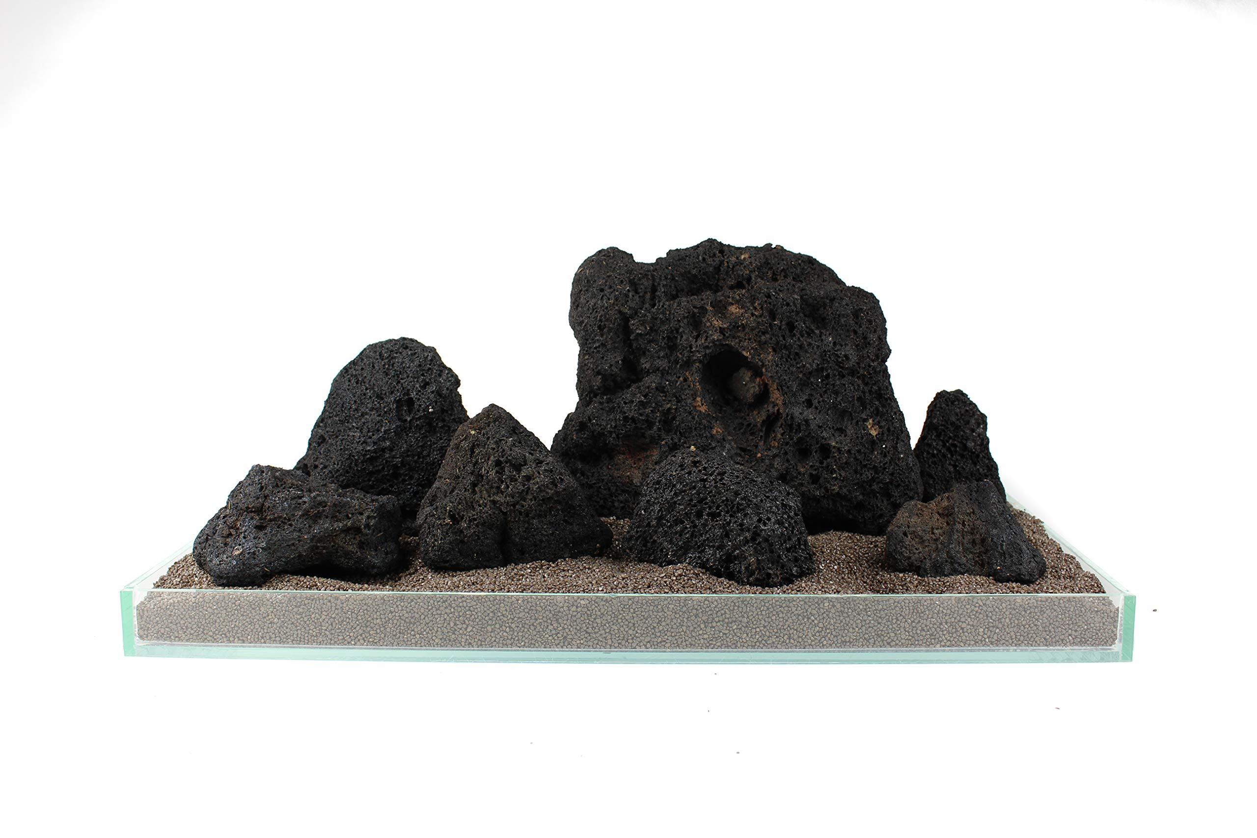 10kg Set Aquarium Stone Fish Tank Decoration Aquascaping Malawi Natural Black Volcanic Lava Rock