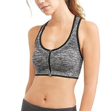 86c678e051 Danskin Now Women s Zip-Front Seamless Sports Bra - Black - S ...