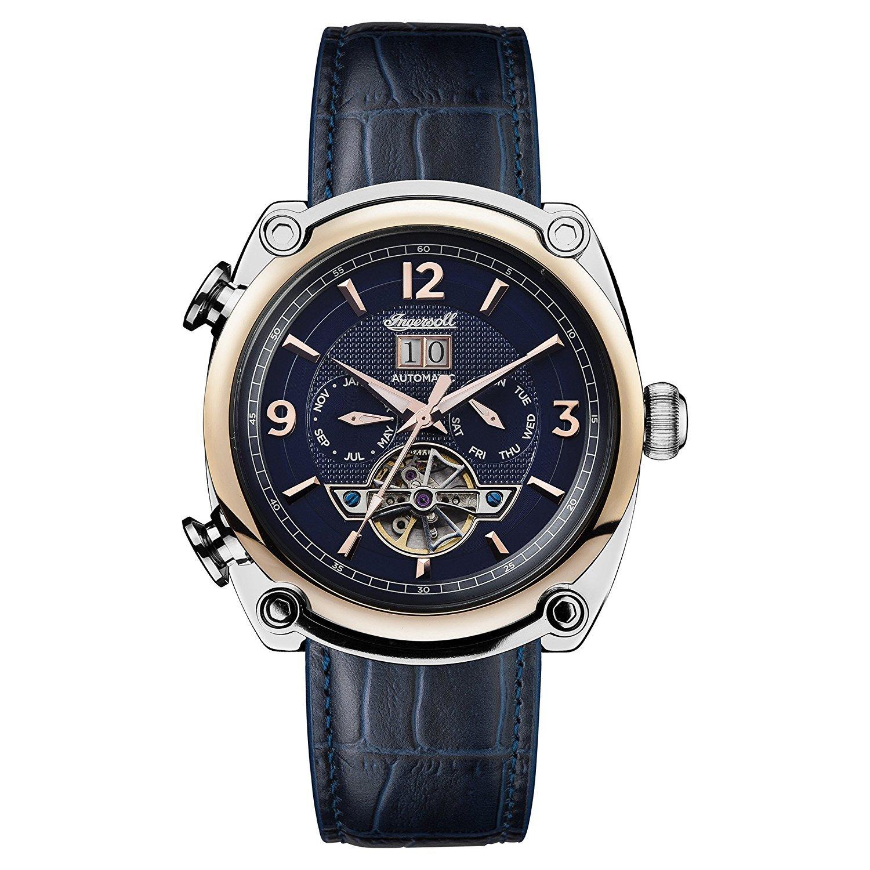 [インガソール]Ingersoll 腕時計 Automatic Stainless Steel and Leather Casual Watch, Color:Blue I01101 メンズ [並行輸入品] B075HYBW73