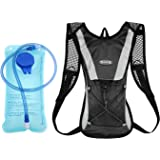 Hydration Backpack, Cycling Pack with 2L 2 Liter Water Bladder Cycling Climbing Camping Running Bags