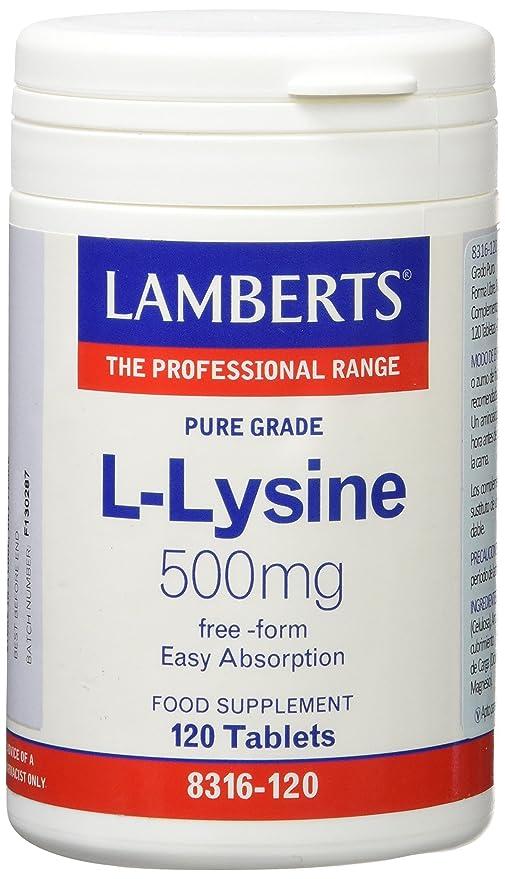 Lamberts L Lisina 500mg - 120 Tabletas: Amazon.es: Salud y cuidado ...