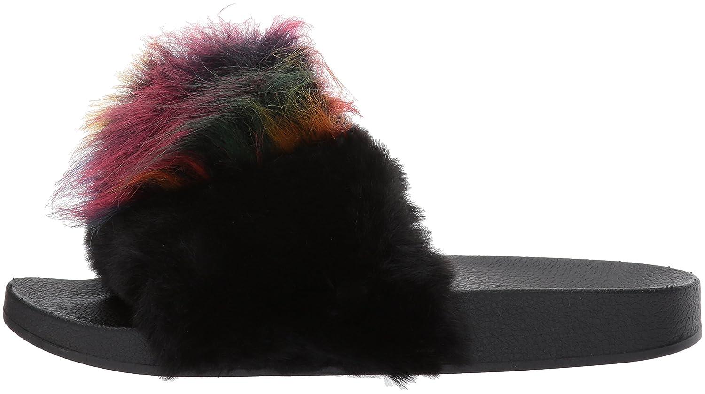 Steve Madden Women's Spiral Slide Sandal B07213BJ1Y 6 B(M) US|Black/Multi