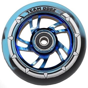 Equipo Dogz 100 mm rueda para patinete - azul cromo Swirl ...