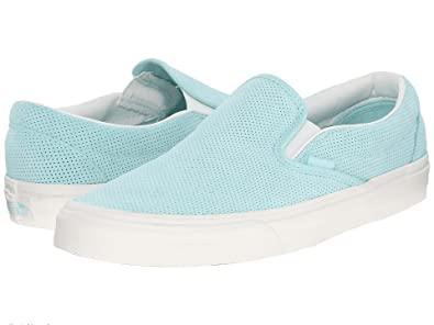94f0178e1ab Image Unavailable. Image not available for. Color  Vans Classic Slip On  Perf Suede Blue Light Blue Men s Shoes