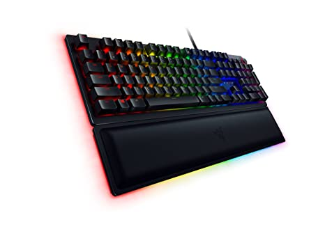 Razer Huntsman Elite #1 Selling US Gaming Keyboard: Opto-Mechanical Key  Switches - Instant Actuation - Chroma RGB Lighting - Magnetic Plush Wrist  Rest