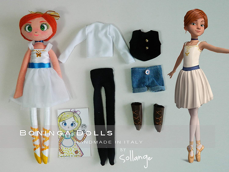 Bambola di pezza - Boninga Dolls: Ballerina Fèlicie (Due abiti)