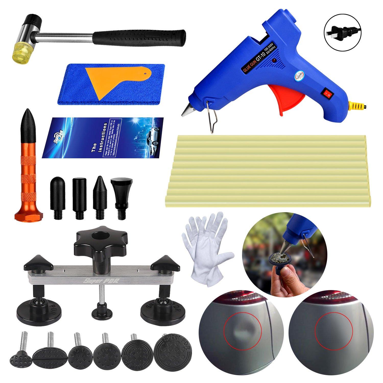 AUTOPDR DIY Dent Removal Tools Pops a Dent Bridge Dent Puller Tool Kit Automotive Body Paintless Dent Repair Tools