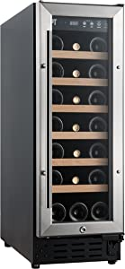 SPT WC-2193W Under-Counter Wine & Beverage Cooler with Wooden Shelves, Black