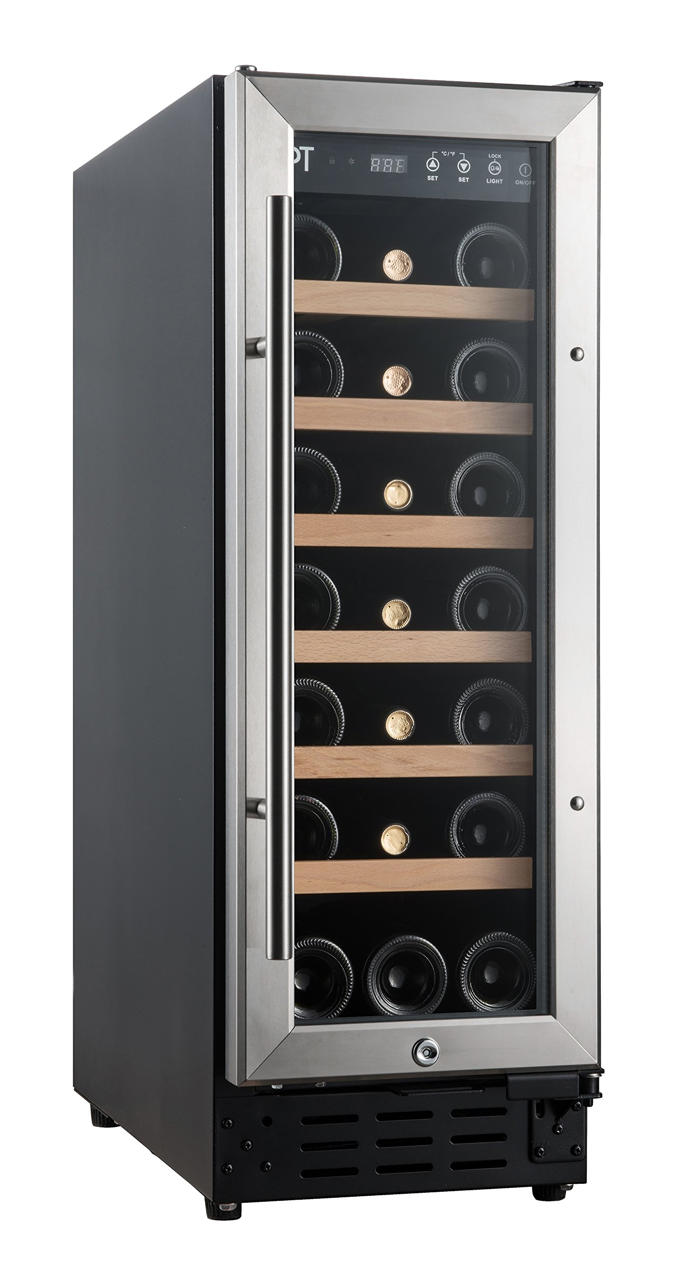 SPT WC-2193W Under-Counter Wine & Beverage Cooler with Wooden Shelves, Black