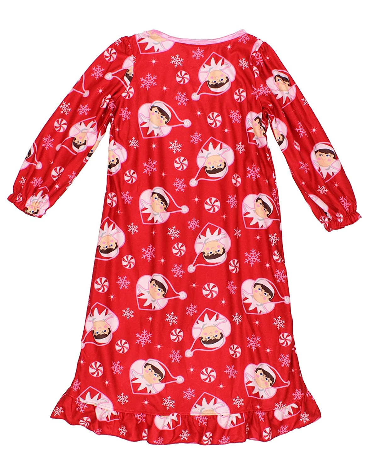 Amazon.com: Elf on the Shelf Girls Flannel Granny Gown Nightgown ...