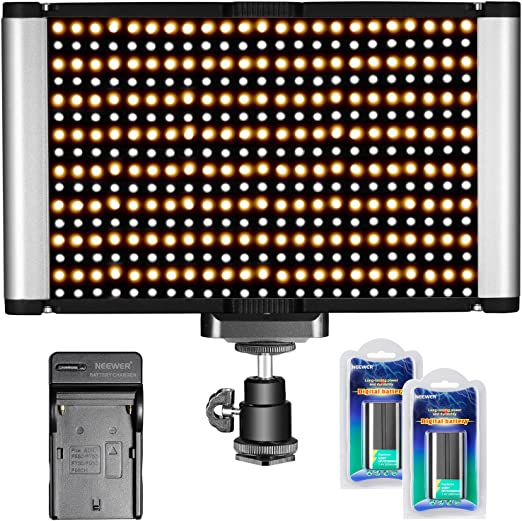Neewer Panel de luz de cámara LED Video 280 LED CRI 95 + Bi-color ...