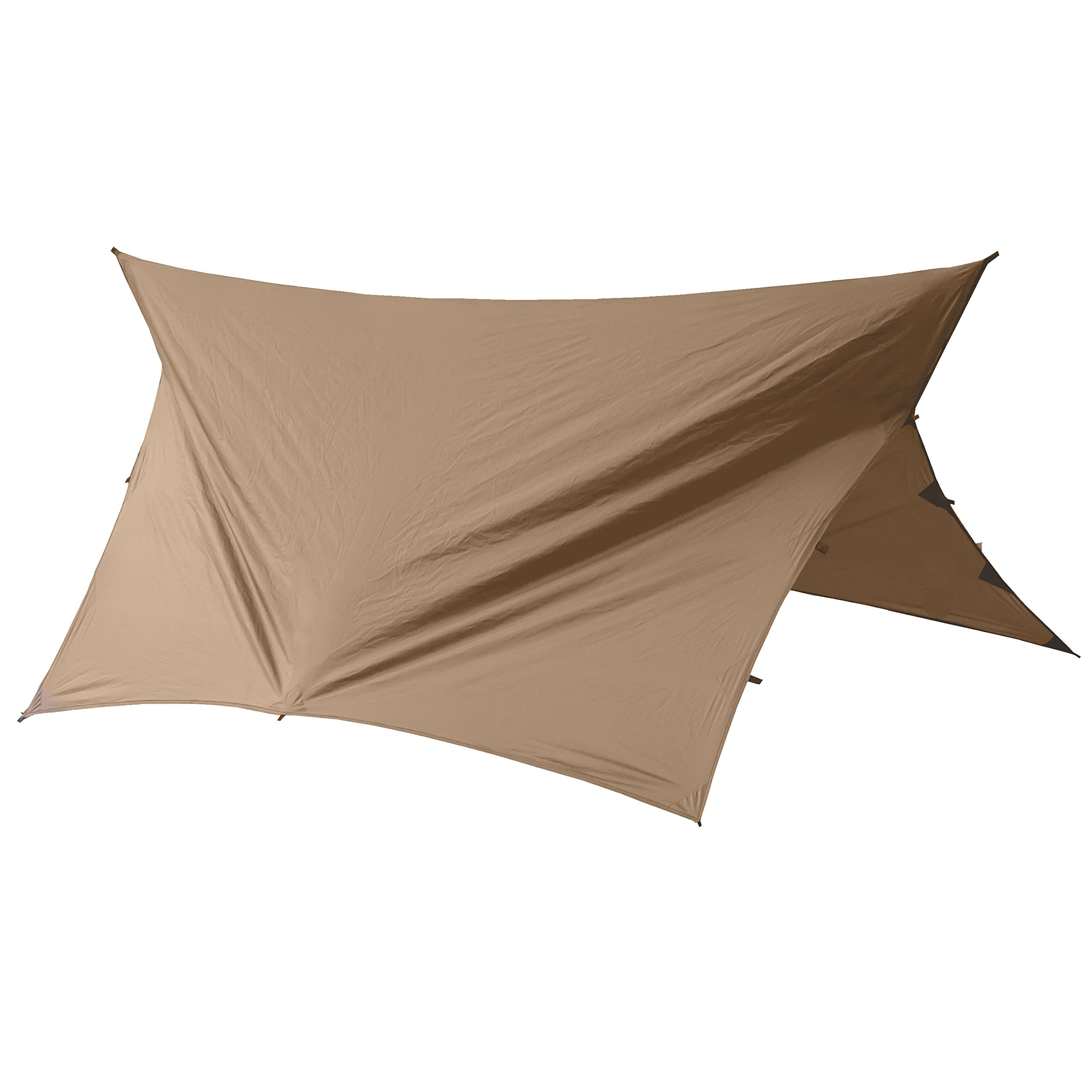 Go Outfitters Apex Camping Shelter/Hammock Tarp (Coyote Brown) by Go Outfitters