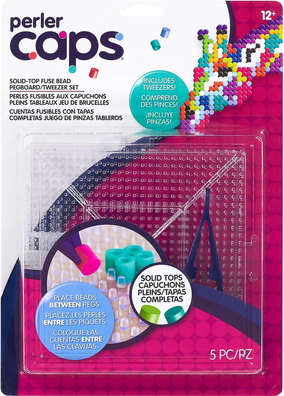 5pcs Caps Bead Perler Pegboard and Tweezer Set