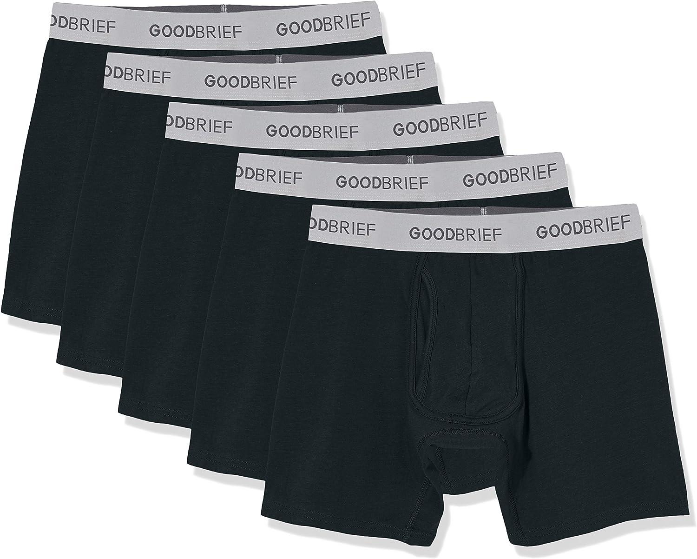 Good Brief Men's Cotton Stretch Classic Fit Boxer Briefs (3-Pack / 5-Pack)