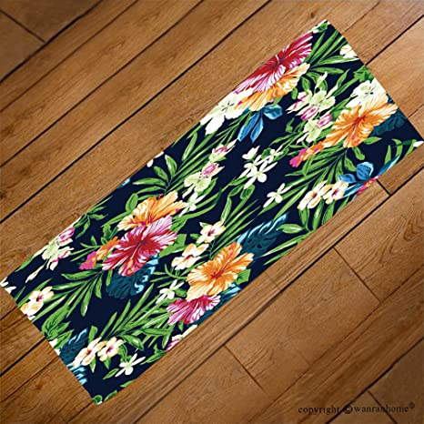 VROSELV Custom Toalla Suave y cómodo Playa Towel-Colorful y Cute Tropical sin Costuras diseño