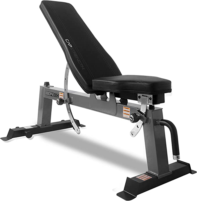 Amazon.com : CAP Barbell Deluxe Utility Weight Bench, Gray (FM-CS804DX-GY) : Sports & Outdoors