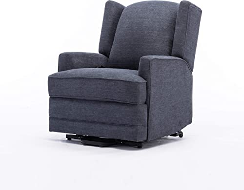 Source One Crosley Blue Wingback Lift Chair