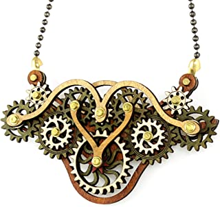 product image for Green Tree Jewelry Kinetic Winged Gear Pendant 6004G