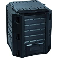 KitGarden Compo 380 - Compostador, 380 L, Color Negro