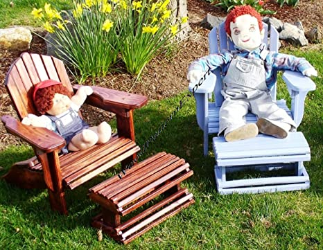 Child Size Adirondack Chair W Foot Rest Paper Plans So Easy