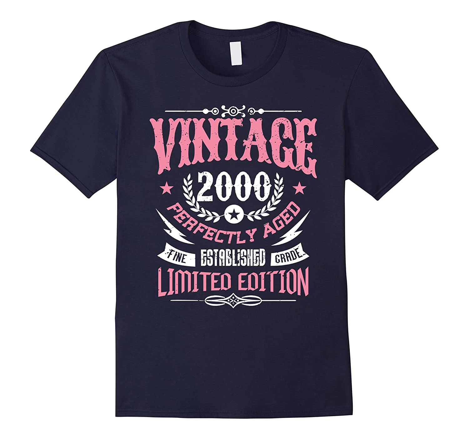 17th Birthday Gift T-Shirt Vintage 2000 - 17 Years Old Shirt-PL
