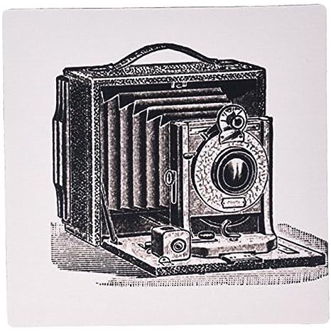 fongakde blanco y negro Vintage cámara de tinta y pluma dibujo ...