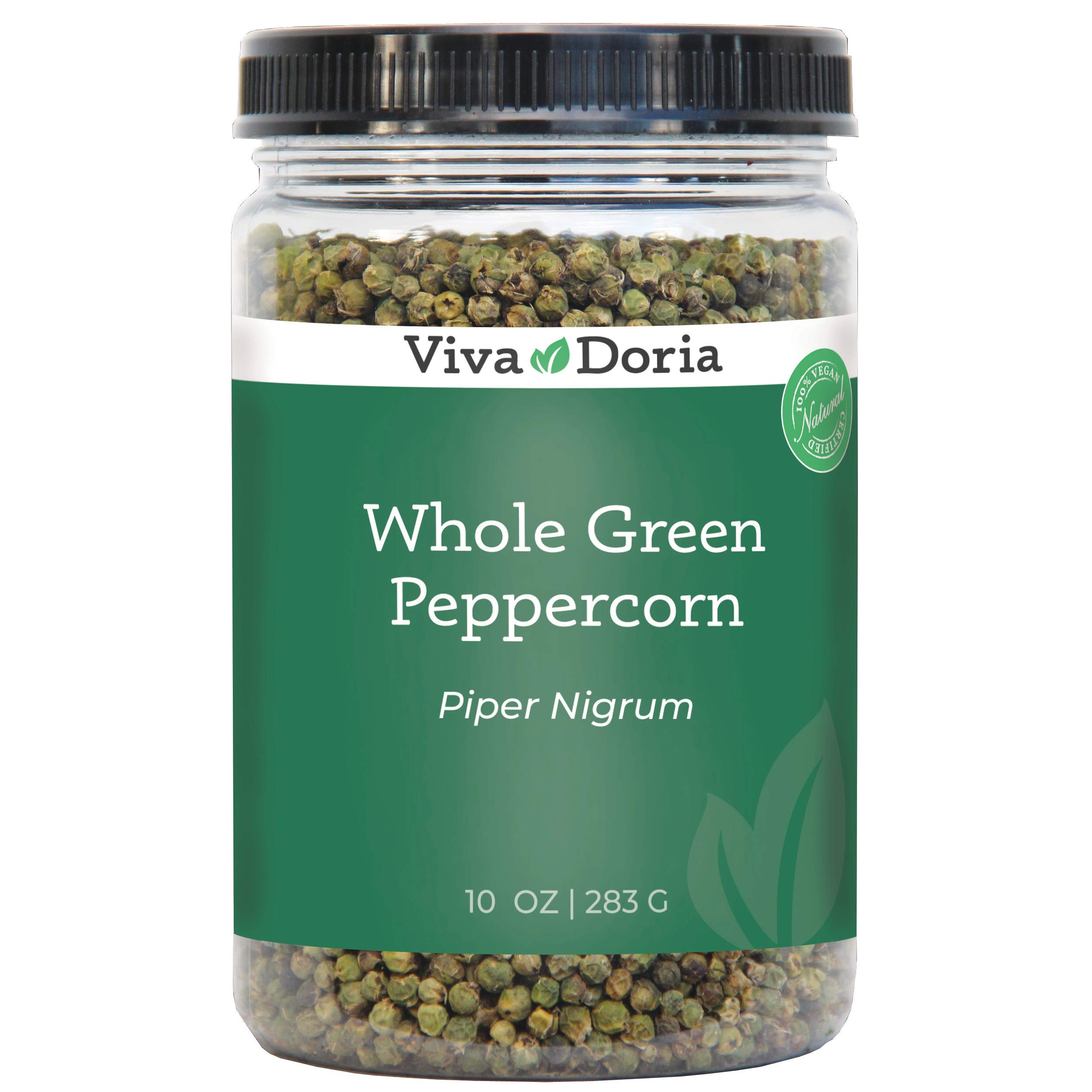 Viva Doria Whole Green Peppercorn (Whole Green Pepper) 10 oz for grinder refills
