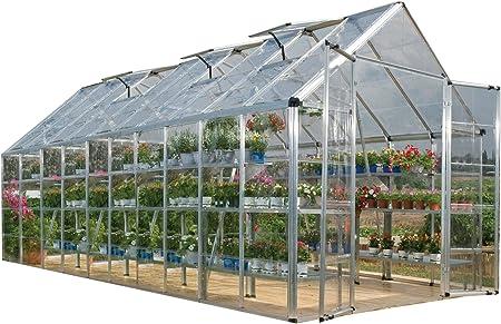 Palram Snap y Grow Plata 6 pie Invernadero tamaño: 6 x 8: Amazon.es: Jardín