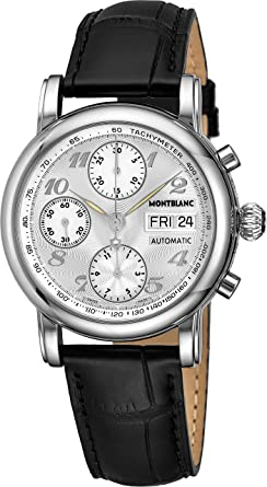 6335e9d082f Image Unavailable. Image not available for. Color  Montblanc Star  Chronograph Automatic Mens Watch 8452