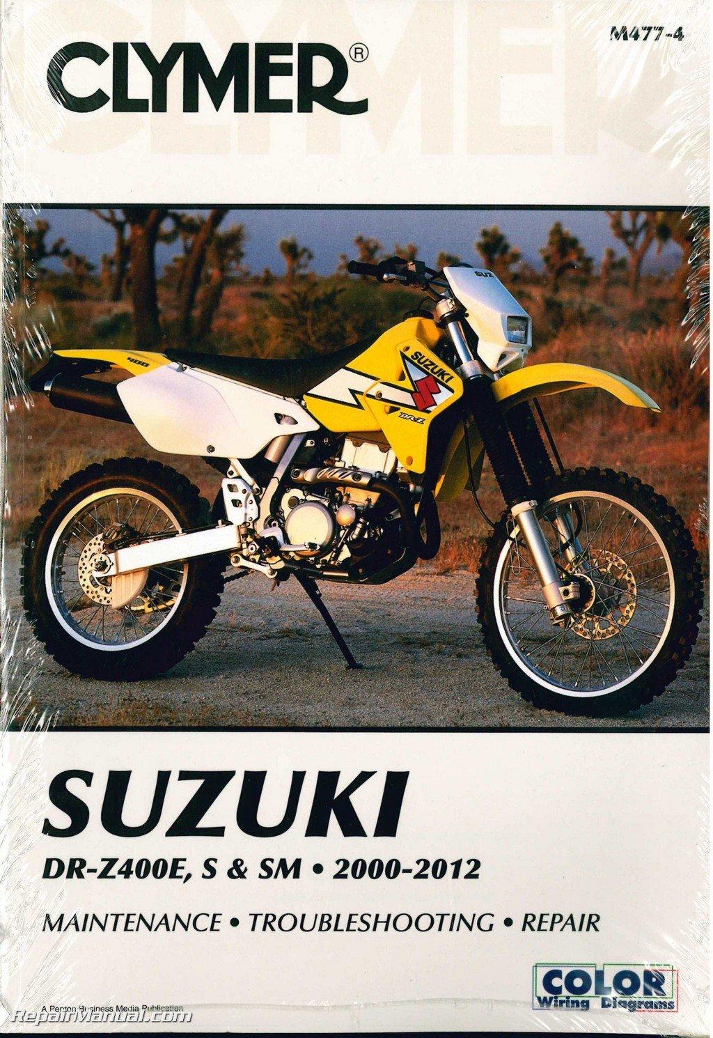 M477-4 DR-Z400 DRZ400 Suzuki 2000-2012 Clymer Motorcycle Repair Manual:  Manufacturer: Amazon.com: Books