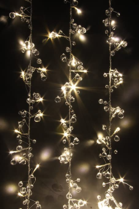 Fairy Lights - Crystal Chic - 50 LED String Lights - Mains Powered ...