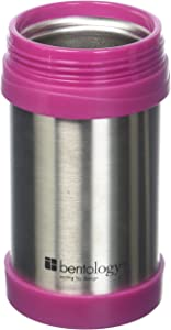 Laptop Lunches Bento-ware17oz Insulated Stainless Steel Lunch Jar, Pink Thermos - Holds Temp for up to 6 Hours