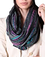 (17 COLORS) Shimmer Sparkle Infinity Scarf, Women's Festival Bliss Boho Crochet Loop Shawl