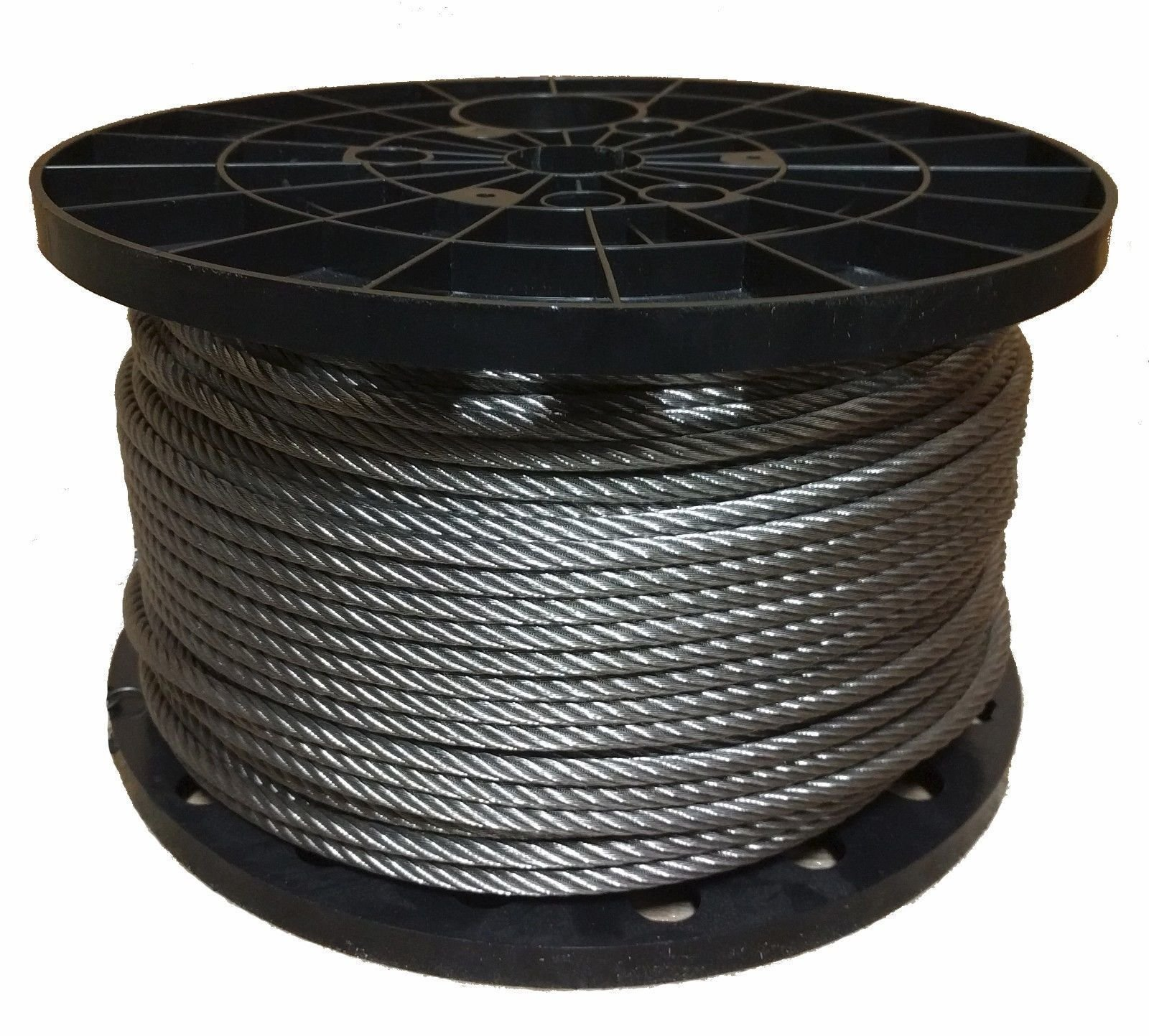 1/4'' Stainless Steel Aircraft Cable Wire Rope 7x19 Type 304 (100 Feet)