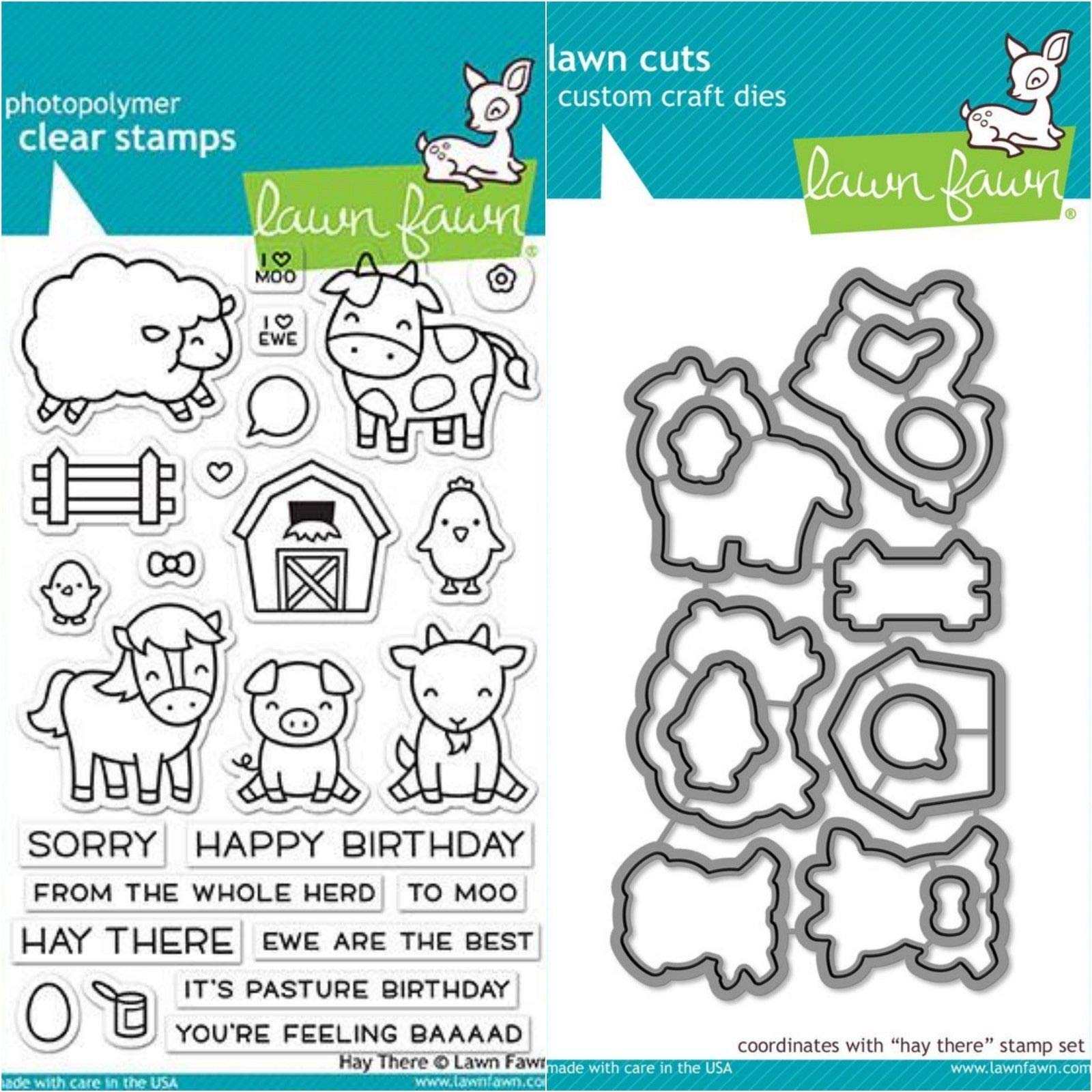 ShopForAllYou Stamping & Embossing (Stamp & Die Bundle)''HAY There'' Clear Stamps Only OR Stamp