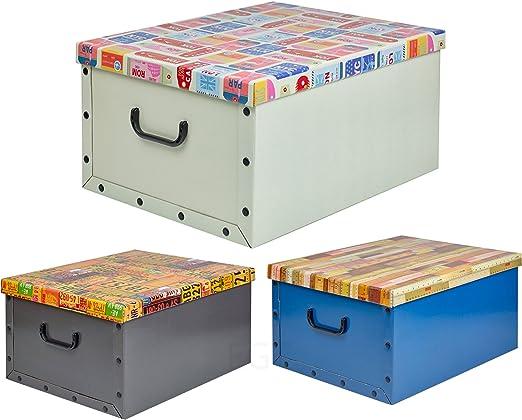 Caja aLmacenaje de carton 3 modelos diferentes: Amazon.es: Iluminación
