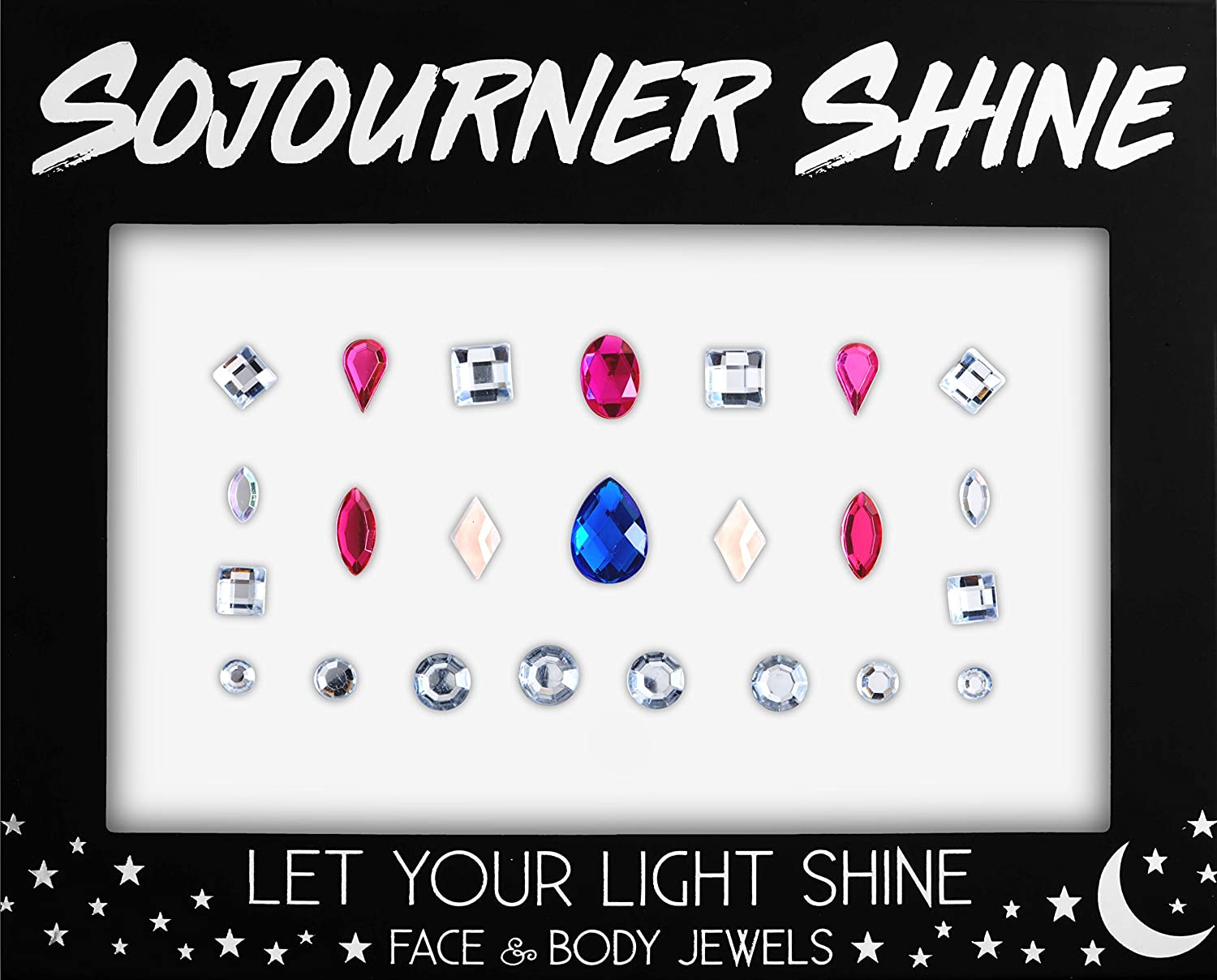 Face Jewels Glitter Gems Rhinestones – Eye Body Jewels Gems | Rhinestone Stickers | Body Glitter Festival Rave & Party Accessories by SoJourner (Indian Princess) SoJourner Bags