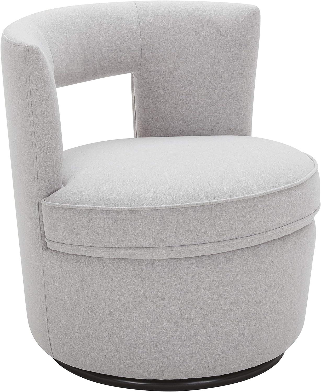 """Rivet Slade Contemporary Foam-Padded Living Room Swivel Chair, 27""""W, Felt Gray"""
