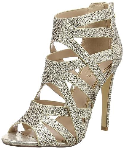 4545769b54 Lipsy Shoes Margot, Women's Open-Toe Pumps, Gold (Gold), 4 UK (37 EU ...