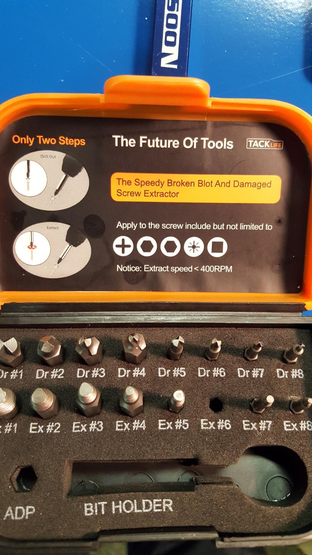 18Pcs Damaged Screw Extractor- DSE01 – Tacklife Tools