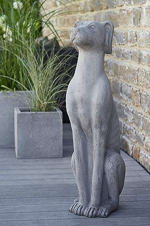 Gartendekoration Gartenfigur Grosser Hund Dekofigur Fur Aussen