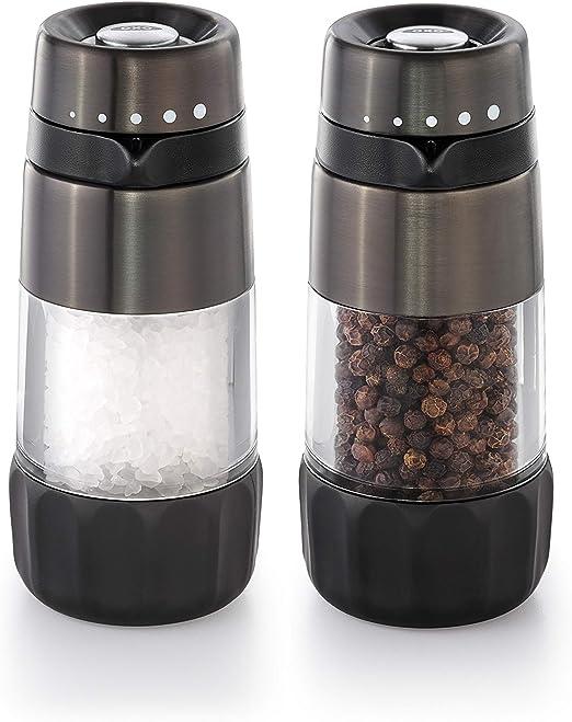 Amazon.com: OXO Good Grips Salt & Pepper Grinder Set, Black Stainless  Steel: Kitchen & Dining