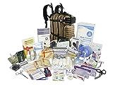Lightning X Stocked EMS/EMT Trauma & Bleeding First Aid Responder Medical Backpack + Kit - TAN/Black