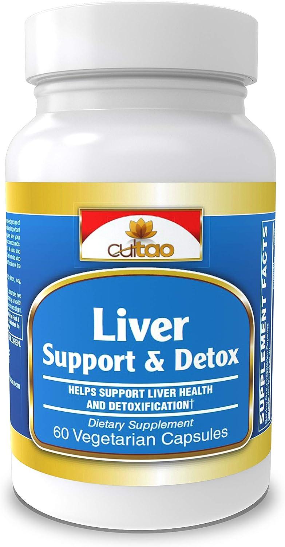 Liver Cleanse Detox Support Supplement – Ultimate Detoxifier Energy Regenerator – Comprehensive Formula 16 Nutrients And Premium Herbs Milk Thistle, NAC, Turmeric, Artichoke, Dandelion – 60 Vcaps