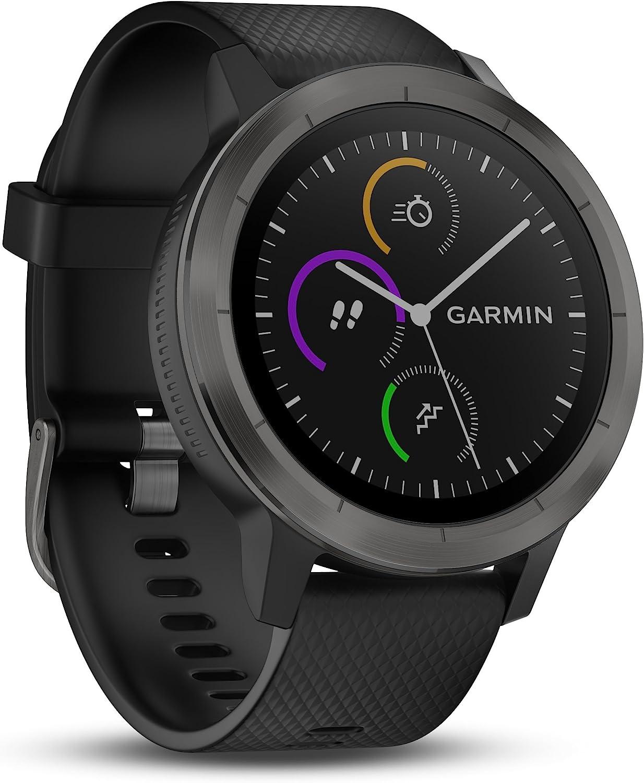 Garmin Vivoactive 3 Smartwatch con GPS y Pulso en la muñeca, Reacondicionado, Unisex Adulto, Negro (Gunmetal), M/L