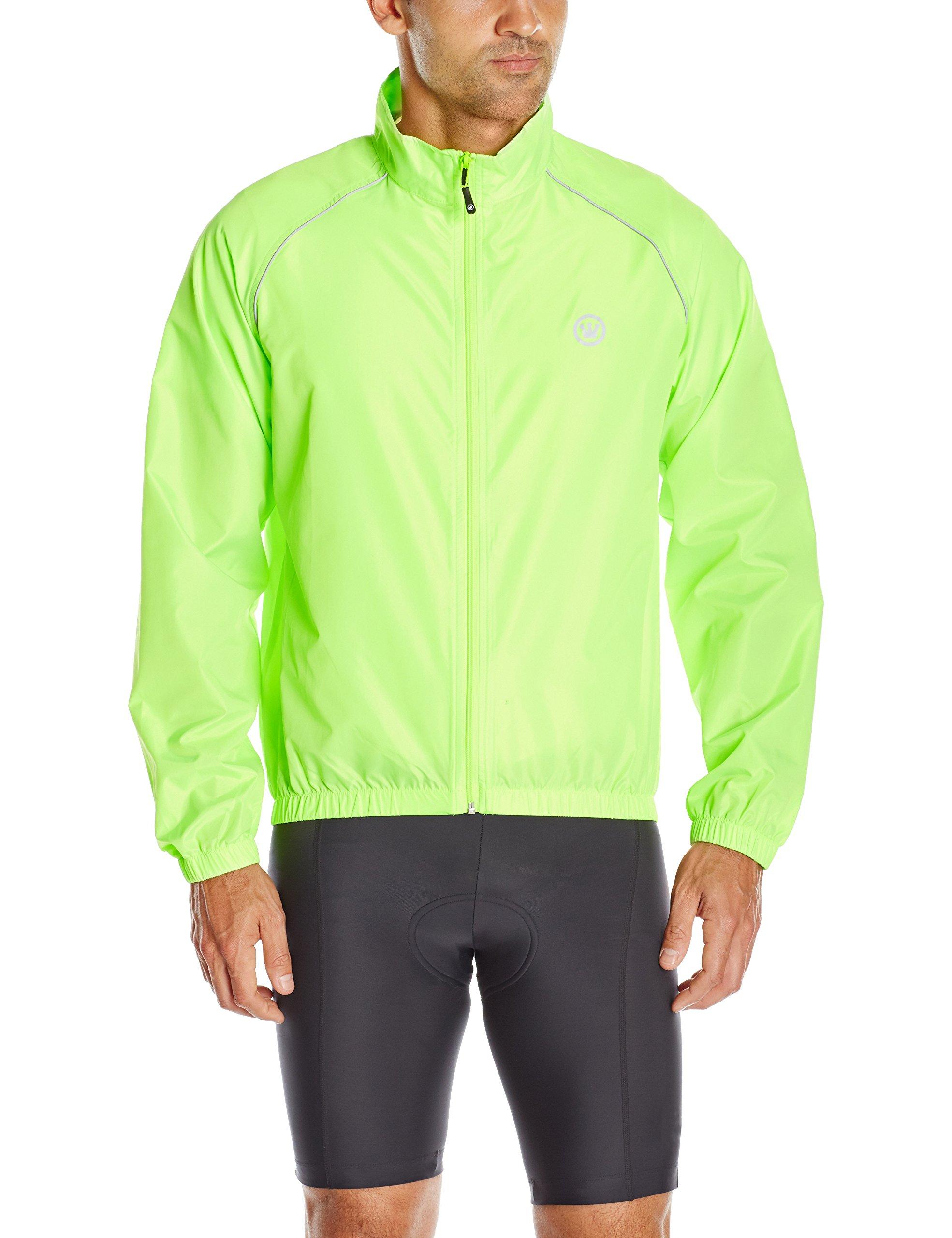 Canari Men's Solar Flare Wind Shell Jacket, Killer Yellow, Small